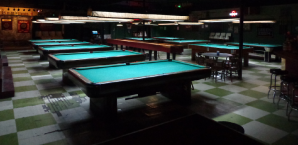 The Green Room's spread of pool tables